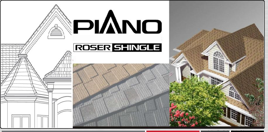 tuile acier piano nouveau mod le de la gamme roser. Black Bedroom Furniture Sets. Home Design Ideas